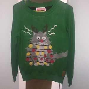 Cat ugly Christmas sweater like new only worn once